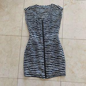 Forever 21 Like New Black and White Zipper Dress S